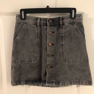 Washed mini skirt
